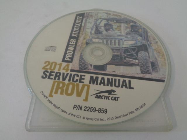 Arctic Cat UTV Side By Side 2014 Prowler XT XTX XTZ Service Manual Disc 2259-859