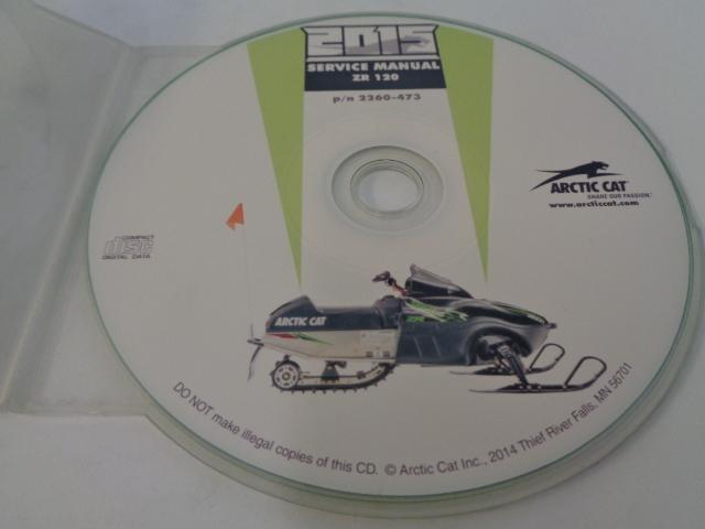 Arctic Cat Snowmobile 2015 ZR 120 Service Manual CD Disc Part# 2260-473