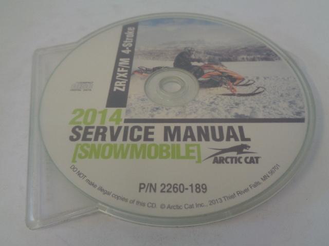 Arctic Cat Snowmobile 2014 ZR/XF/M 4-Stroke Service Manual CD Disc # 2260-189