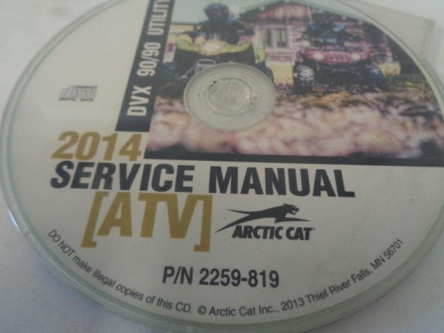 Arctic Cat ATV Quad 2014 DVX / Utility 90 Service Manual CD / Disc Part 2259-819