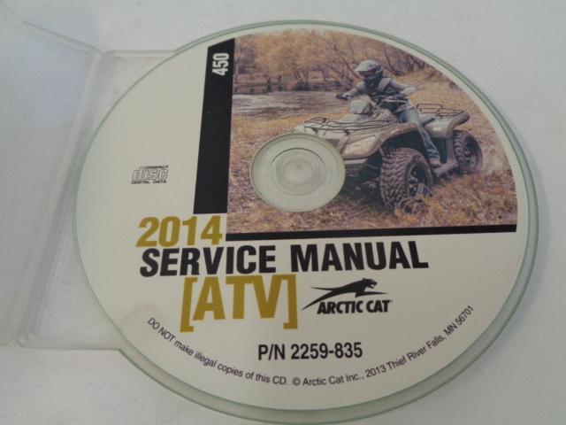 Arctic Cat ATV Quad 2014 450 Service Manual CD / Disc Part 2259-835