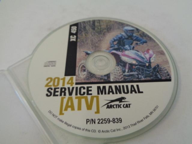 Arctic Cat ATV Quad 2014 XC 450 Service Manual CD / Disc Part 2259-839