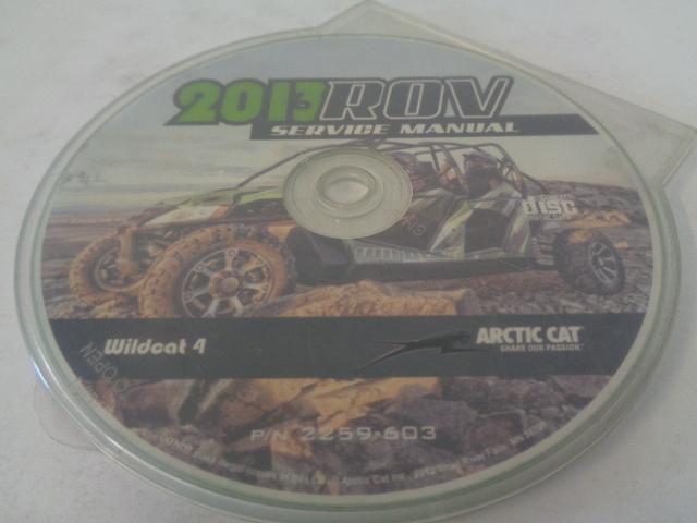 Arctic Cat UTV Side By Side 2013 Wildcat 4 Service Manual Disc Part 2259-603