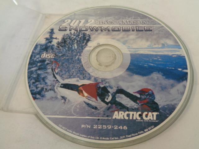Arctic Cat Snowmobile 2012 Service Manual CD Disc Part# 2259-246