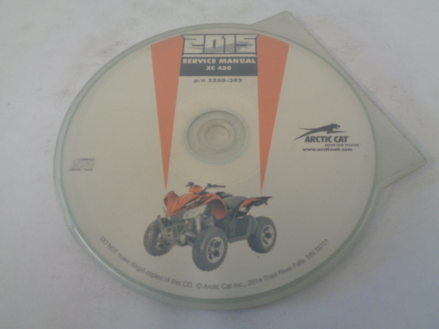 Arctic Cat ATV Quad 2015 XC 450 Service Manual CD / Disc Part 2259-392