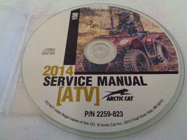 Arctic Cat ATV Quad 2014 150 Service Manual CD / Disc Part 2259-823