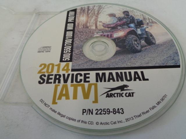 Arctic Cat UTV 2014 500/550/700/1000 Mud Pro TRV Service Manual Disc # 2259-843