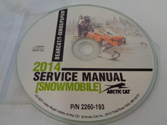 Arctic Cat Snowmobile 2014 Bearcat / T / F5 Service Manual CD Disc Part 2260-193