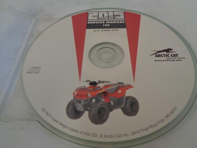 Arctic Cat ATV Quad 2015 150 Service Manual CD / Disc Part 2259-376