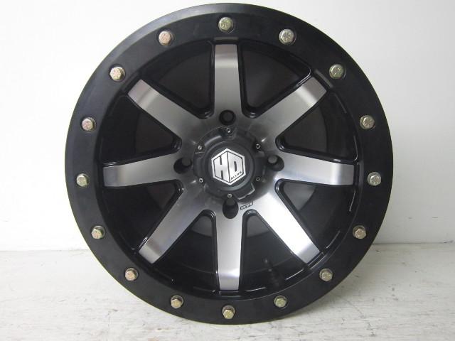 UTV Side By Side STI HD9 Black And Silver 4 Lug Bead Lock Wheel 15x10 SH965-15x7