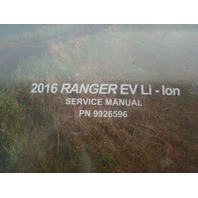 Polaris 2016 Ranger EV Li-Ion OEM Factory Service Manual Part# 9926596