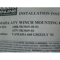 Yamaha 2002-08 Grizzly 660 Winch Mt Kit ABA-5KM69-40-01 Part# ABB-5KM69-40-01
