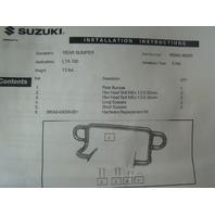 Suzuki ATV Quad 4x4 2005-2014 Kingquad 500 750 Rear Silver Bumper # 990A0-45009