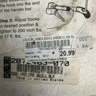 Polaris Handlebar Hook Black Snowmobile 90 Degree Part# 2872483-070 OEM NEW