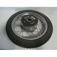 Yamaha Motorcycle / Dirt Bike 1975 MX 80 OEM Orignal Rear Wheel Assembly