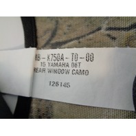 Yamaha UTV 2015-2016 Wolverine NEW Soft Camo Rear Windscreen # 2MB-K750A-T0-00