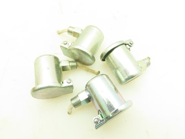"""GITS Mfg Flip Top Oil Cup Machine Oiler 7//8/"""" Steel Y Elbow 1//8/"""" NPT  Lot of 4"""