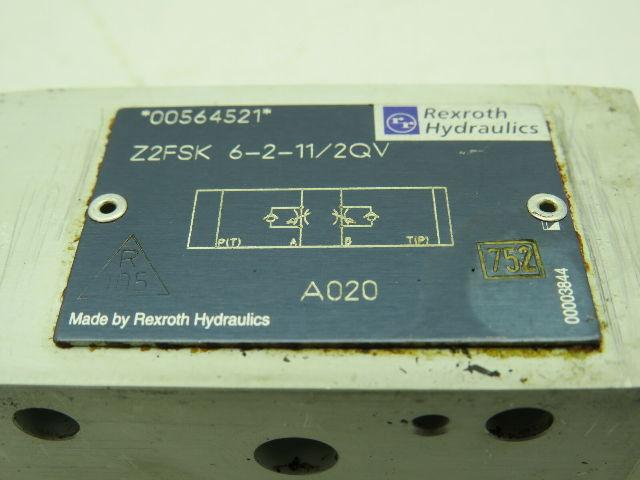 NEW REXROTH Z2FSK-6-2-11//2QV HYDRAULIC CHECK VALVE