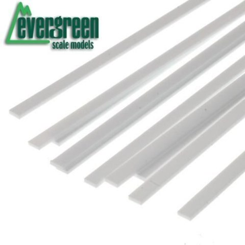 Evergreen 128 Styrene Strip .020 x .188