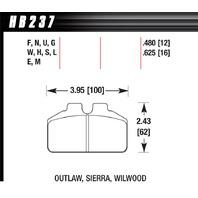 HAWK BRAKE DL Bridgebolt Black  P/N - HB237M.480