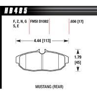 HAWK BRAKE Performance Street Brake Pads (4) P/N - HB485Z.656