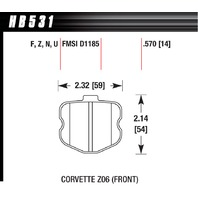 HAWK BRAKE 2006 Corvette ZO6 HP Plus P/N - HB531N.570