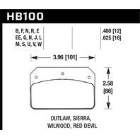 Hawk Performance HB100N.480 Disc Brake Pad
