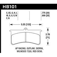 Hawk Performance HB101W.800 Disc Brake Pad