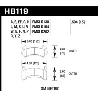 Hawk Performance HB119S.594 Disc Brake Pad