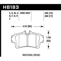 Hawk Performance HB183N.585 Disc Brake Pad Fits 94-04 Mustang