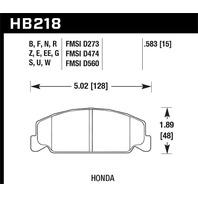 Hawk Performance HB218F.583 Disc Brake Pad Fits Accord Civic Civic del Sol CRX