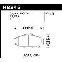 Hawk Performance HB245F.631 Disc Brake Pad Fits 93-01 Civic Integra