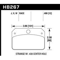 Hawk Performance HB267W.480 Disc Brake Pad