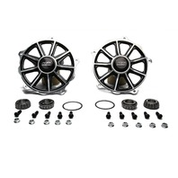 KING RACING PRODUCTS Front Hubs Direct Mount Black (Pr) P/N - 1200