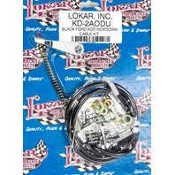 LOKAR Ford AOD Trans Kick Down Cable Black P/N - KD-2AODU
