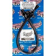 LOKAR Black Dipstick Ford AOD Trans Firewall Mount P/N - XTD-3AODFM