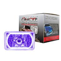 ORACLE LIGHTING 4x6in Sealed Beam Head Light w/Halo Purple P/N - 6909-007