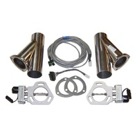 PYPES PERFORMANCE EXHAUST Dual Electric Exhaust Cutout 3in w/Y-Pipes P/N - HVE10K3