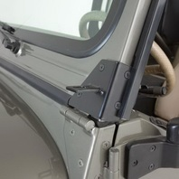 Rampage 7609 Windshield Hinge Light Bracket Fits 76-95 CJ7 Wrangler (YJ)