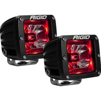 RIGID INDUSTRIES LED Light Pair Radiance Pod Red Backlight P/N - 20202