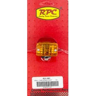 RACING POWER CO-PACKAGED Small Chrome Turn Signal Single Filament Amber P/N - R31-581
