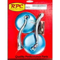 RACING POWER CO-PACKAGED Stainless Retro Street Rod Mirrors P/N - R6615