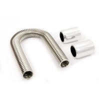 RACING POWER CO-PACKAGED 12in Stainless Hose Kit w/Polished  Ends P/N - R7301