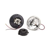 RACING POWER CO-PACKAGED 5.75in Headlight w/H4 Bulb and Turn Signal P/N - R7400