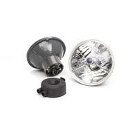 RACING POWER CO-PACKAGED 5.75in Tri-Bar Headlight w/H4 Bulb P/N - R7403