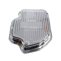 RACING POWER CO-PACKAGED TH400 Trans Pan Chrome Steel Finned P/N - R9121