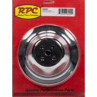 RACING POWER CO-PACKAGED Chrome Steel Water Pump Pulley SBC Short 7.1 Dia P/N - R9600