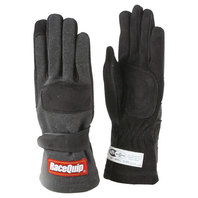 RACEQUIP/SAFEQUIP Gloves Double Layer Small Black SFI P/N - 355002