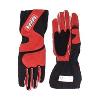 RACEQUIP/SAFEQUIP Gloves Outseam Black/Red Small SFI-5 P/N - 356102