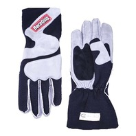 RACEQUIP/SAFEQUIP Gloves Outseam Black/ Gray Small SFI-5 P/N - 356602
